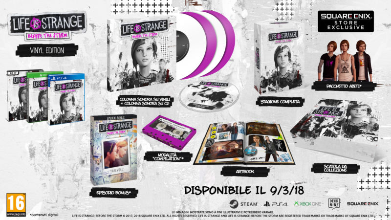 Life is Strange Before the Storm Vinyl Edition