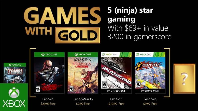 Games With Gold febbraio 2018