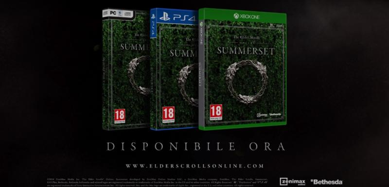 The Elder Scrolls Online: Summerset disponibile per PS4 e Xbox One