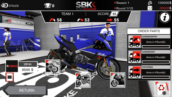 SBK Team Manager disponibile per dispositivi iOS e Android