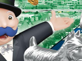 I baffi di Monopoly si tingono di blu